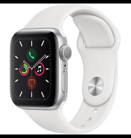Apple MWV62LL/A Apple Watch S5 40mm - Silver/White Sportband