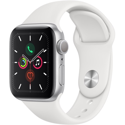 Apple MWV62LL/A Apple Watch S5 40mm - Silver/White Sportband