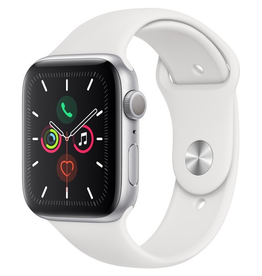 Apple MWVD2LL/A Apple Watch S5 44mm - Silver/White Sportband