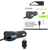 Incipio Incipio Car Charger 2.4A w/ Lightning Cable - Black