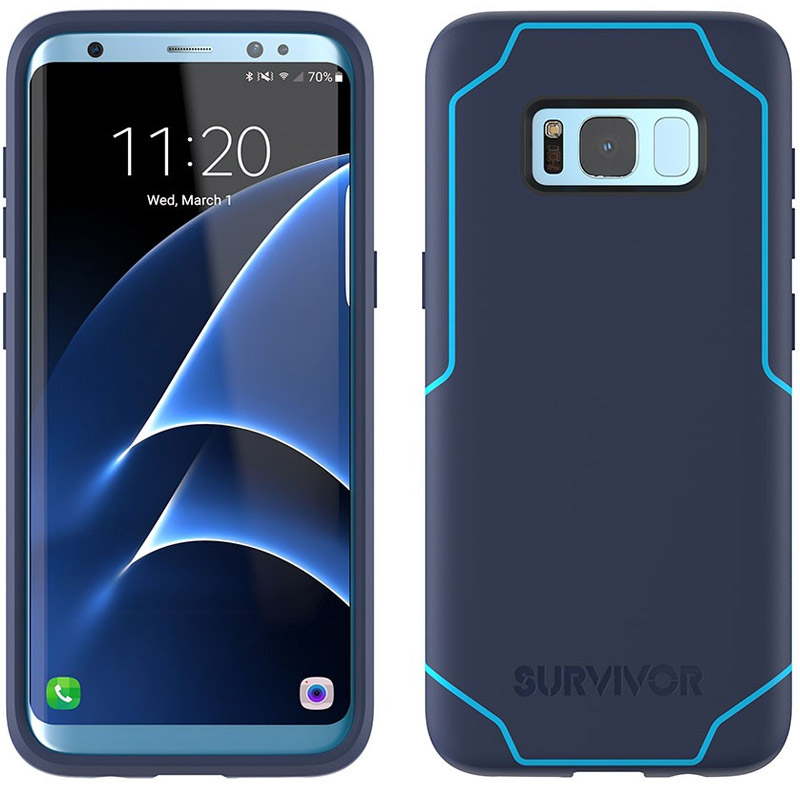 Griffin Survivor Strong Case for Samsung Glaxaxy S8+ - Navy/Coral