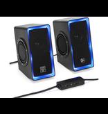 GoGroove LED Computer Speakers - Black