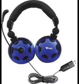 HamiltonBuhl HamiltonBuhl T-PRO USB-A Over-Ear NC Headset - Black-Blue