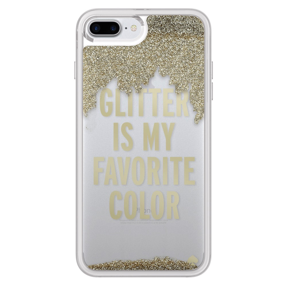 Kate Spade New York Kate Spade Liquid Glitter Case for iPhone 7 Plus - Glitter Is My Favorite Color