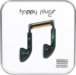HappyPlugs Happy Plugs Earbuds - Jade Green Marble