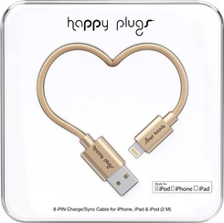 HappyPlugs Happy Plugs Lightning Charge Cable 2M - Champagne