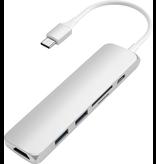 Satechi Satechi Multiport USB-C hub [HDMI, 2xUSB-A, SD card, USB-C] - Silver