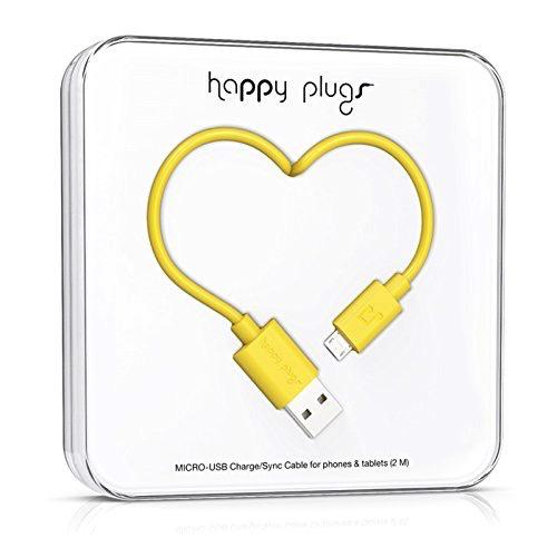 HappyPlugs Happy Plugs Micro-USB Charge Cable - Yellow