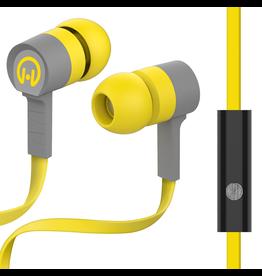 HyperGear HyperGear Low Ryder Earphones w/ Mic - Yellow / Grey