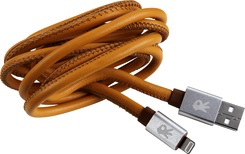 OnHand OnHand Genuine Leather Lightning Cable 5FT - Brown