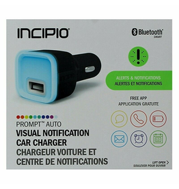 Incipio PROMPT AUTO Visual Notification Car Charger - 2.4A