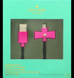 Kate Spade New York Kate Spade Bow Micro-USB Charge Cable - Vivid Bow/Black