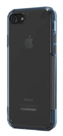 PureGear Slim Shell Pro Case for iPhone 7 - Blue/Clear