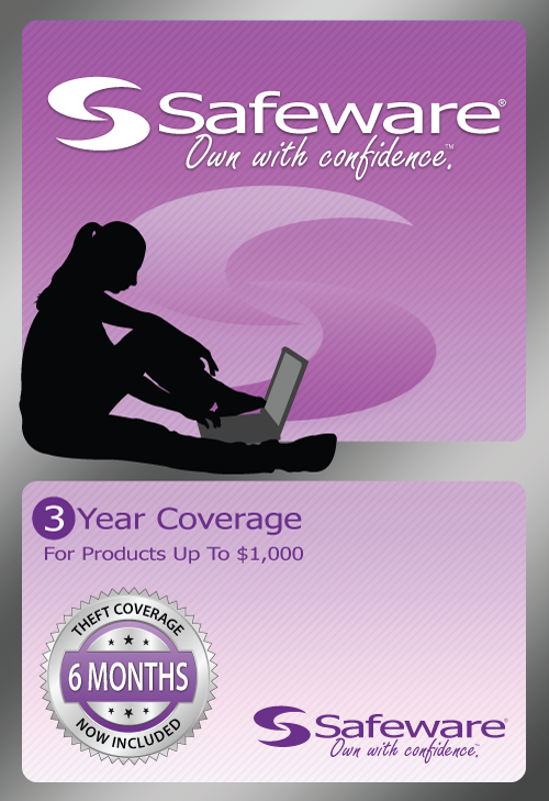 Safeware SafeWare 3YR UP TO $1000 Light Purple