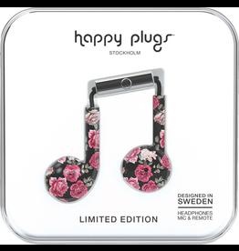 HappyPlugs Happy Plugs Earbids Plus w/ Mic - Vintage Roses