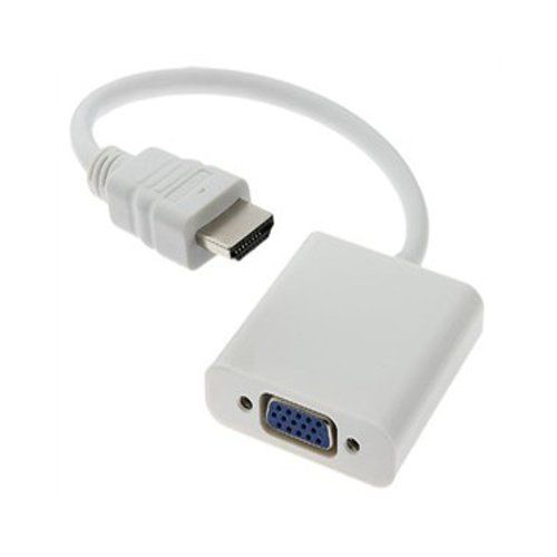 Xavier Xavier HDMI to VGA Female Adapter - White Color
