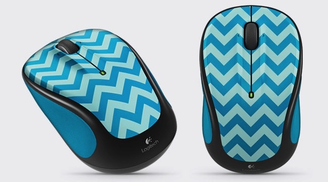 Logitech Logitech M325c Wireless Mouse - Teal Stripes