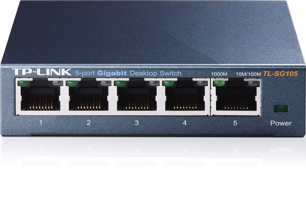 TP-Link 5-Port Desktop Gigabi Steel Cased Switch