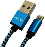 Xavier Xavier Braided Type-C to USB A Cable 6 Feet - Blue