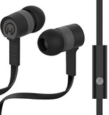 HyperGear Low Ryder Earphones with Mic - Black / Grey