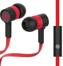HyperGear Low Ryder Earphones with Mic - Red / Black