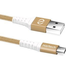 Naztech Naztech Braided Micro USB Cable 4FT - Gold