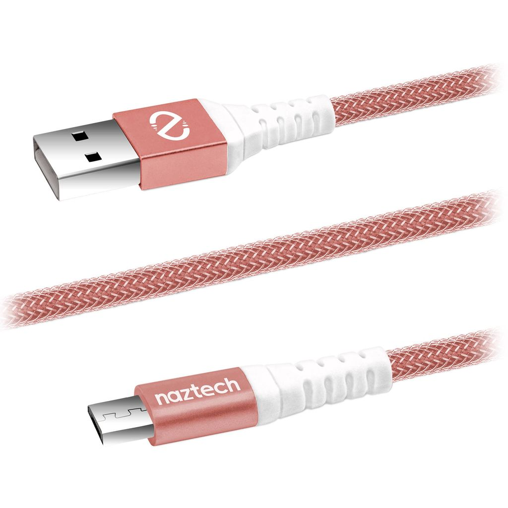 Naztech Naztech Braided Micro USB Cable 4FT - Rose Gold