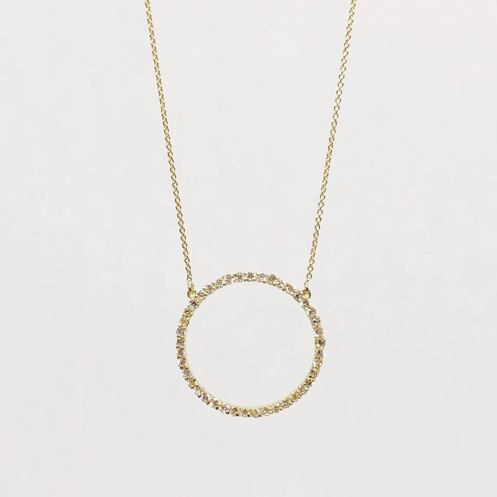 Jennifer Meyer Jennifer Meyer Diamond Open Circle Necklace