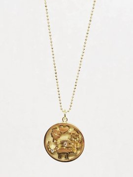 Jennifer Meyer Jennifer Meyer Yellow Gold Good Luck Necklace