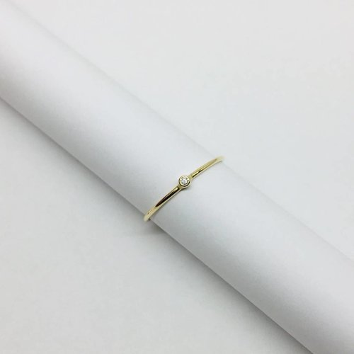 Jennifer Meyer Jennifer Meyer Thin Diamond Stacking Ring