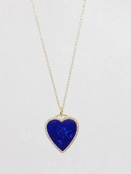 Jennifer Meyer Jennifer Meyer Lapis Inlay Heart Necklace