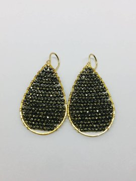 SonyaRenee Posh Black Mystic Earrings