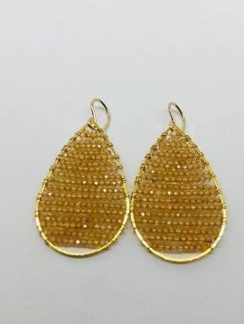 SonyaRenee Posh Champagne Earrings