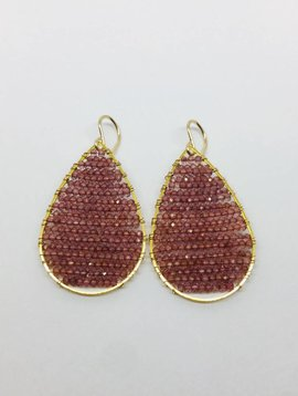 SonyaRenee Posh Garnet Earrings
