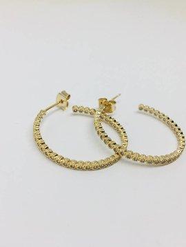 Theia Yellow Gold Medium Hoop Earrings