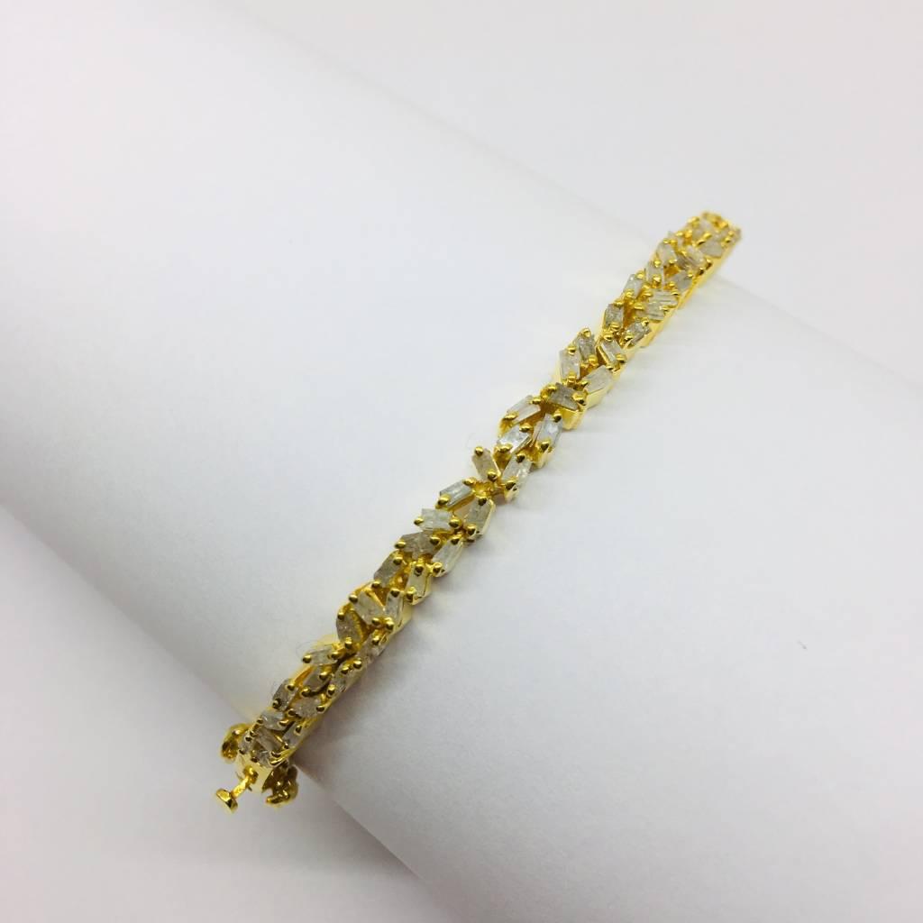 Kat Designs Gold Plated Baguette Cluster Bracelet