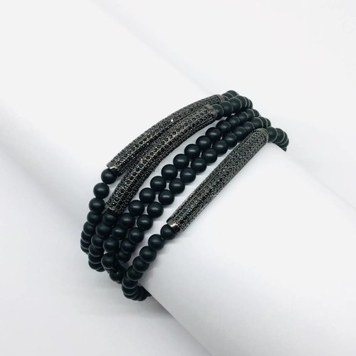 Kat Designs Black Onyx Bracelet Set