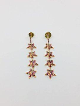 Lotasi Mulit-Sapphire Star Earrings