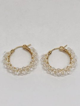 Viv & Ingrid Crystal Spiral Hoop Earrings