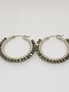 Viv & Ingrid Metallic Gold Wrap Hoops