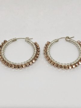 Viv & Ingrid Metallic Rose Gold Wrap Hoops