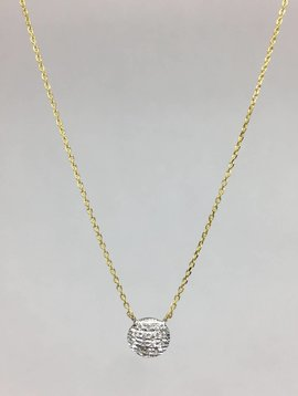 Dana Rebecca Small Diamond Disc Necklace