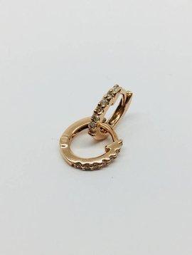 Dana Rebecca Mini Diamond Huggie Earring