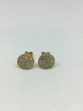 Dana Rebecca Large Round Diamond Earrings