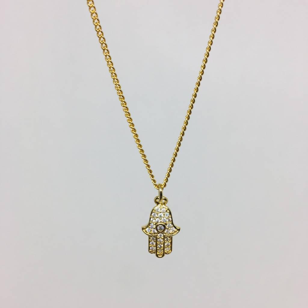 Theia Crystal Hamsa Necklace