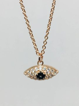 Theia Crystal Evil Eye Necklace