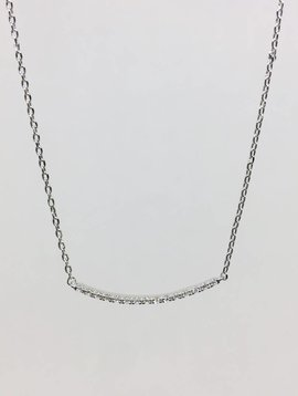 Theia Crystal Curved Bar Necklace
