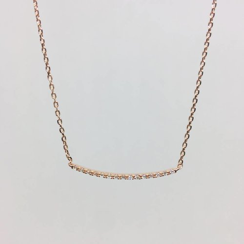 Theia Crystal Curver Bar Necklace