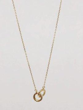 Adina Reyter Pave Interlocking Loop Necklace