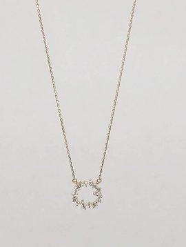 Adina Reyter Small Scattered Diamond Circle Necklace